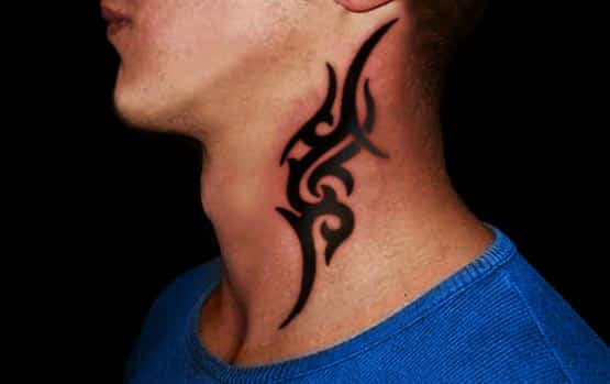 neck tribal tattoo design