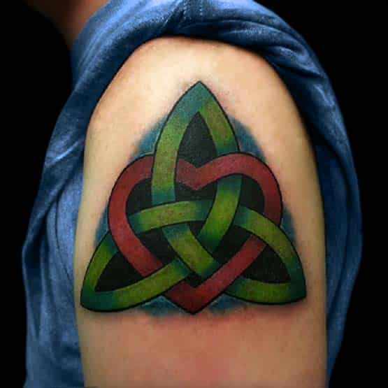 Celtic Knot Tattoo With Color