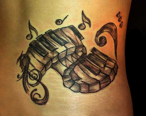 Music Lower Back Tattoo Designs