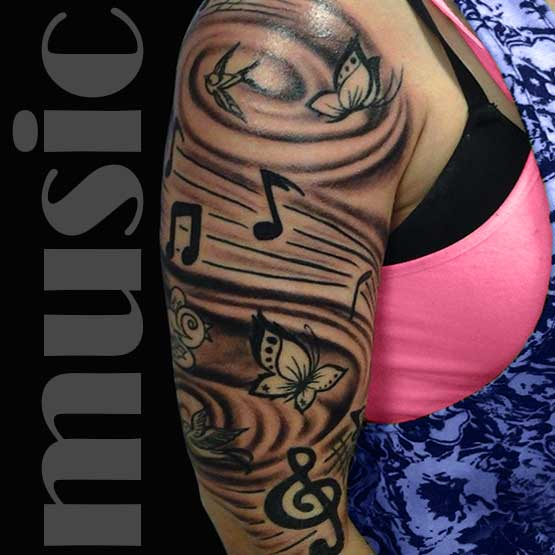 Music Notes Tattoo Designs Women