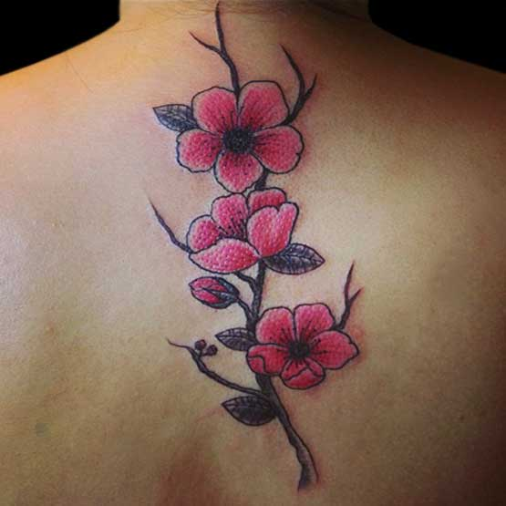 Cherry Flossom Flower Tattoo Designs