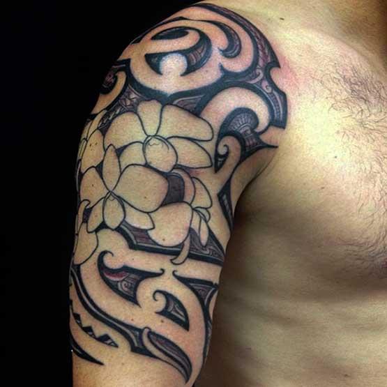 Hawaiian Flower Tattoo Picture Design