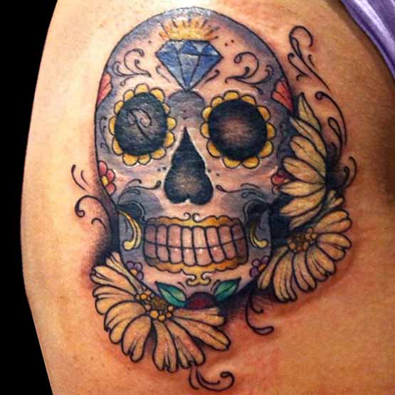 Mexican Sugar Skull Tattoo Ideas