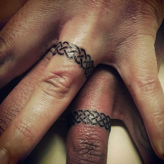 Celtic Knot Wedding Ring Tattoo Designs
