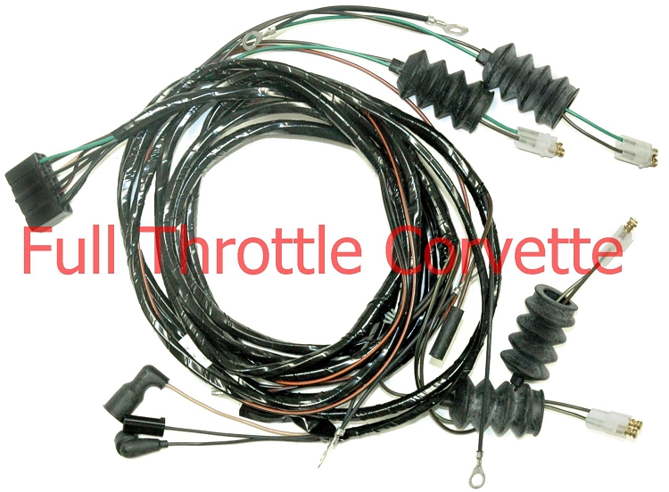 1964 Corvette Rear Body Harness for Convertible Without Back-Up