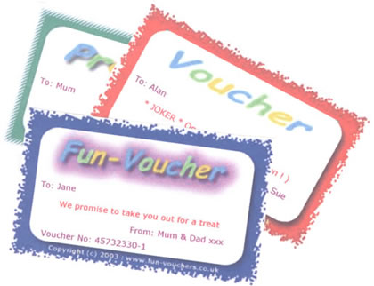 Fun-Vouchers - prize voucher template