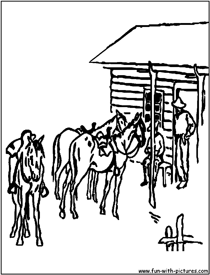 Ranch Coloring Pages SaveEnlarge