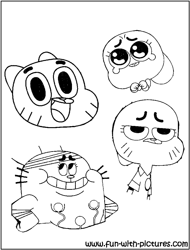 printable coloring pages gumball