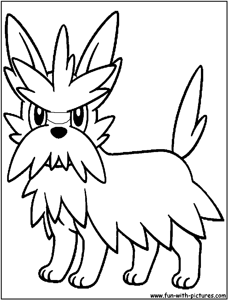 Herdier pokemon coloring pages images