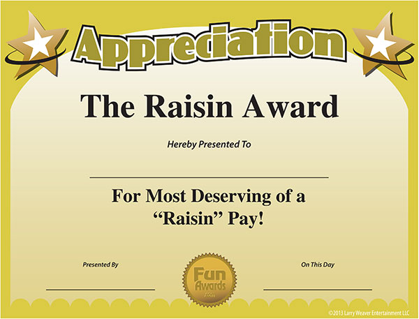 Free Printable Certificates - Funny Printable Certificates, Free - free appreciation certificate templates