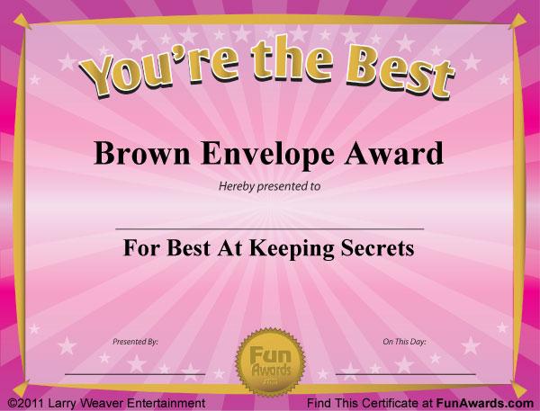 fake award certificates