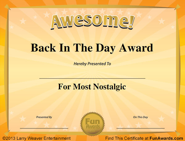 Funny Award Certificates - 101 Funny Certificates to Give Family - employee superlatives