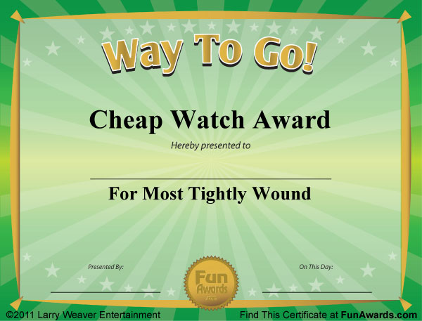 Funny Award Certificates - 101 Funny Certificates to Give Family - Silly Certificates Awards Templates
