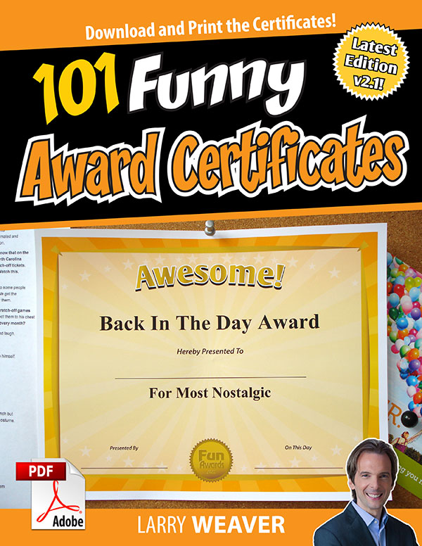Funny Award Certificates - 101 Funny Certificates to Give Family - best of free funny employee awards printable certificates