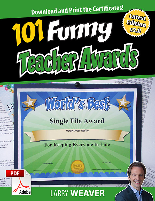 Funny Teacher Awards - 101 Printable Certificates, Fun Award Ideas - best of free funny employee awards printable certificates