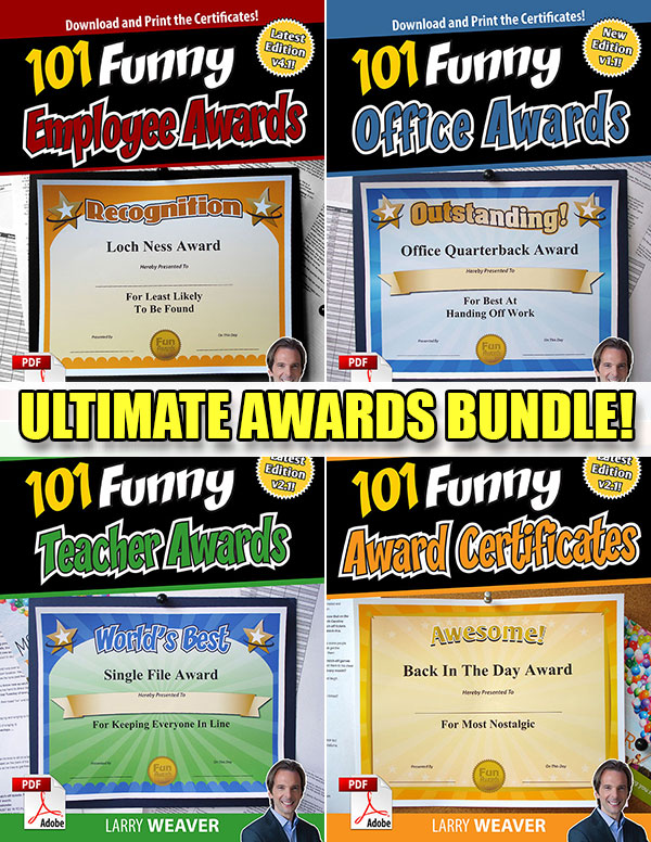 Funny Certificates - Award Templates, Printable Certificates