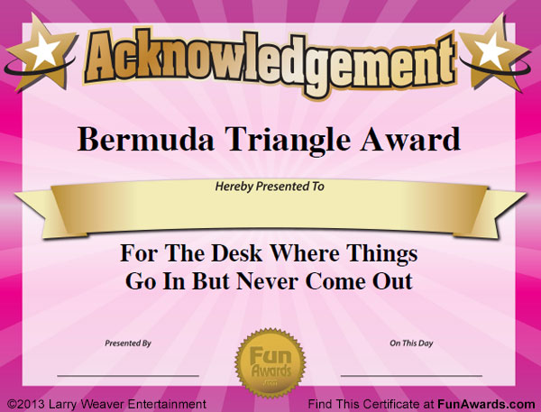 Funny Office Awards™ - 101 Printable Award Certificates for The Office - employee superlatives