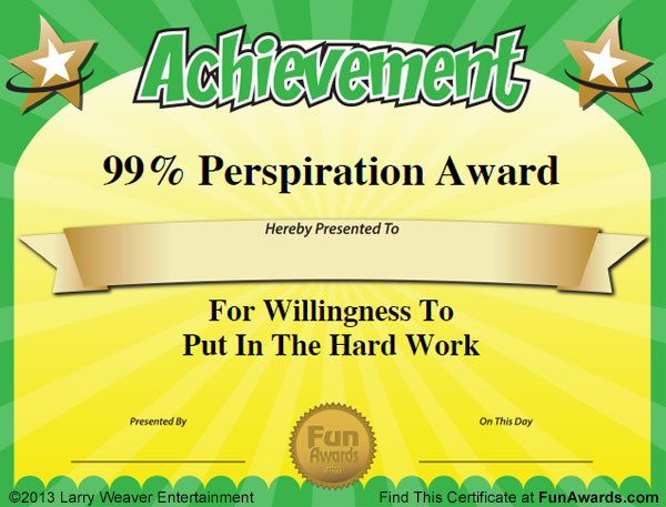 Social Not-Working Award Because thereu0027s a fine line between net - award templates free word