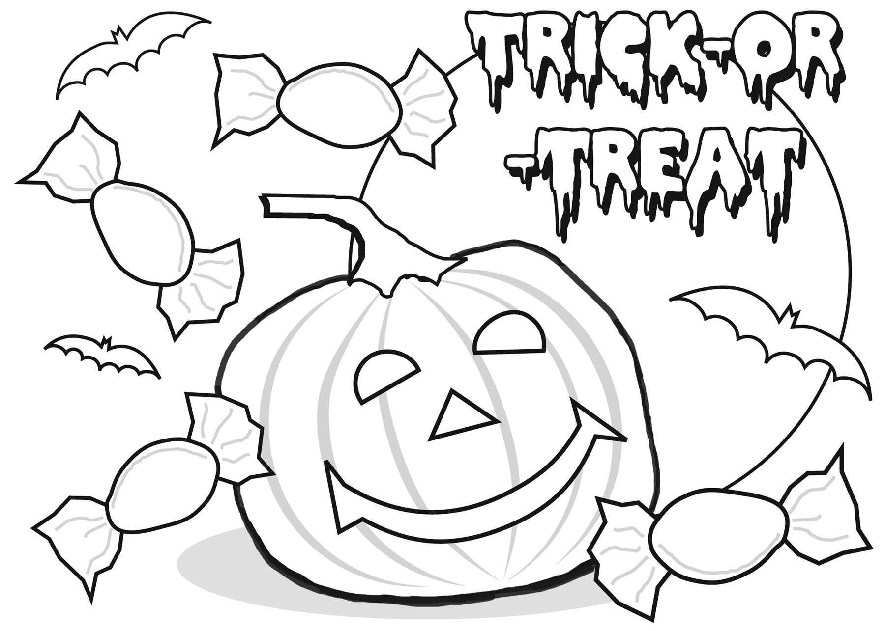 Childrens halloween colouring sheets - Download Childrens Halloween Colouring Sheets