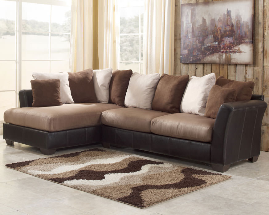 masoli mocha sectional sofa set signature design by ashley furniture
