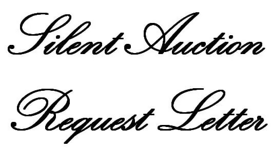 Silent Auction Request Letter - donation request letter