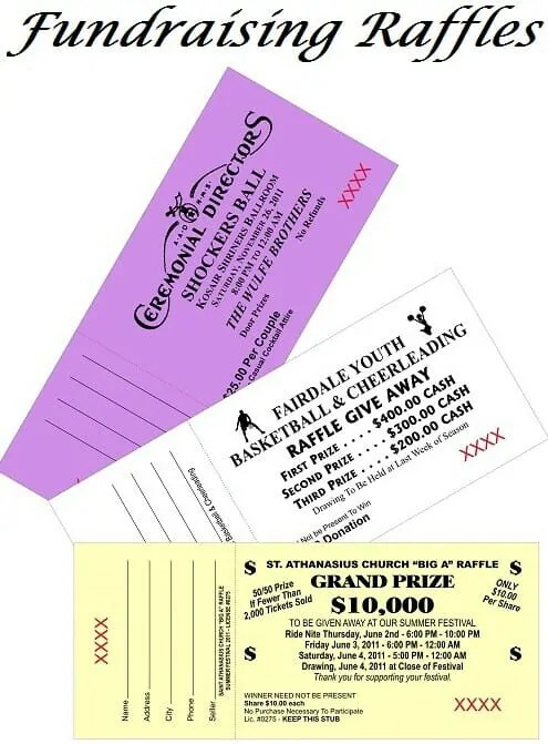 Fundraising Raffles Rules  Regulations - raffle ticket prizes