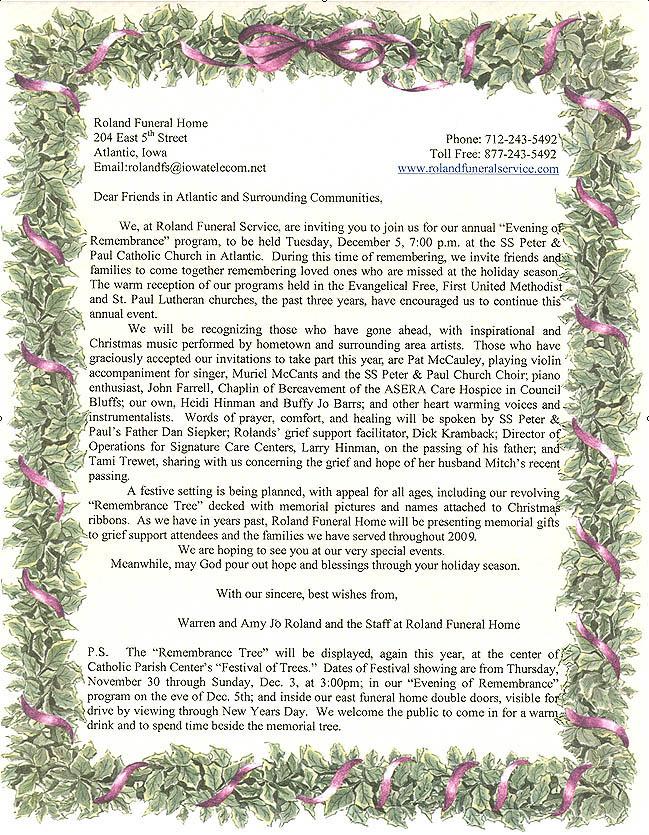 Memorial Service Invitations - memorial service invitation sample