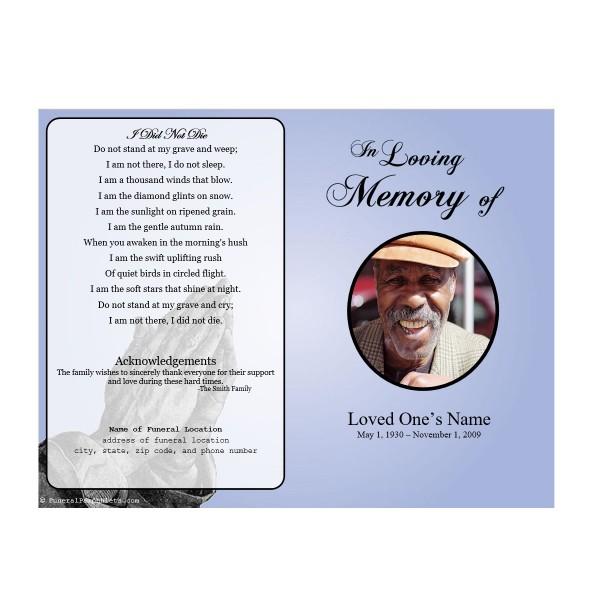 funeral program sles - 28 images - garden of promise funeral program - memorial program