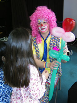 Rent a Clown San Francisco clowns for Kids party Los Angeles Children's Parties Happy Clown Chicago