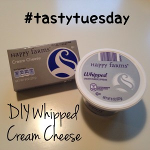 Make your own whipped cream cheese for less. #tastytuesday #funhappinessandlife #foodblog