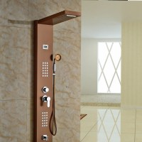 Aspen Rose Gold Massage Shower Panel System with Shower ...