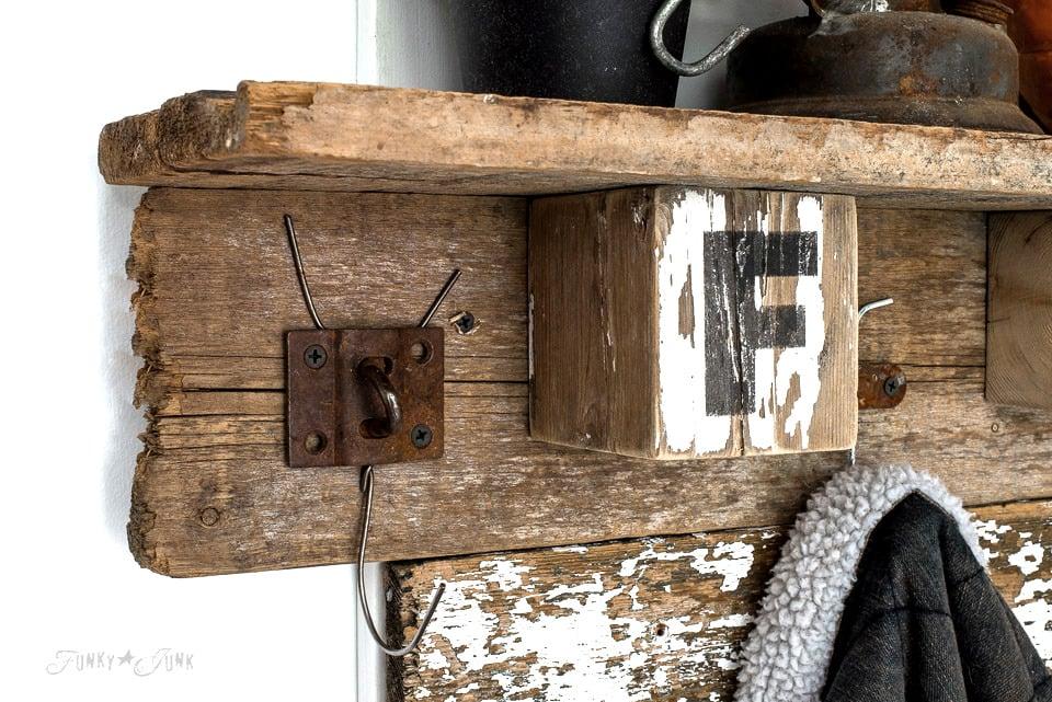 Interchangeable Fall Farm Reclaimed Wood Coat Hook