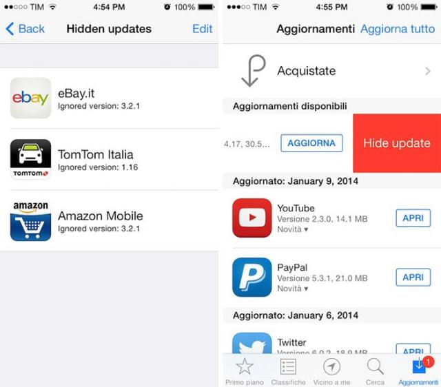 Hide apps in app store