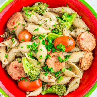 Shell Pasta with Sausage funloveandcooking.com