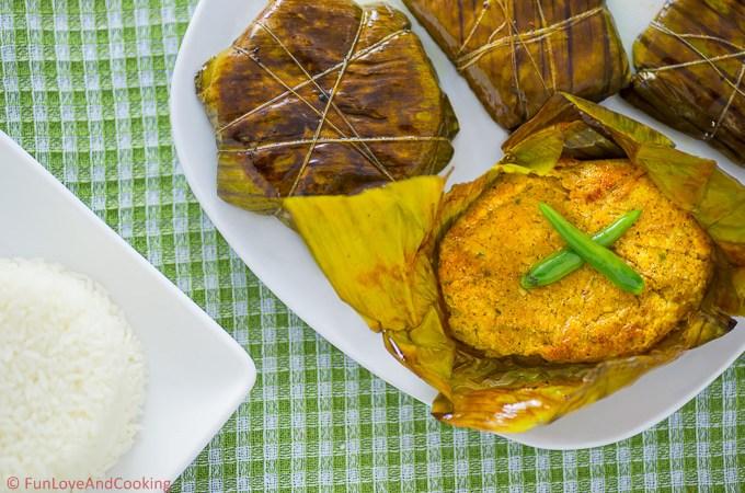 Soya Paturi    Steamed Soya in Banana Leaf