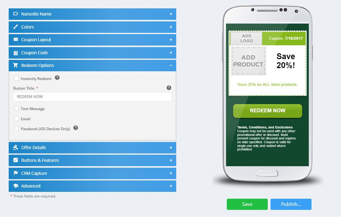 Digital Experience Platform Mobile Coupons