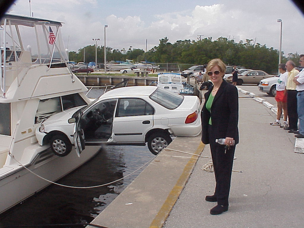Funny Car Accident Woman