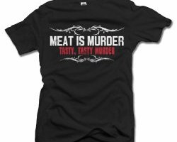 foodie shirt, shirts with meat, meat lovers gift, meat is tasty murder shirt