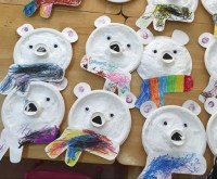 paper plate polar bear craft  Preschool and Homeschool