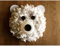 tissue paper polar bear craft  Preschool and Homeschool