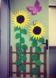 sunflower door decoration  Preschool and Homeschool