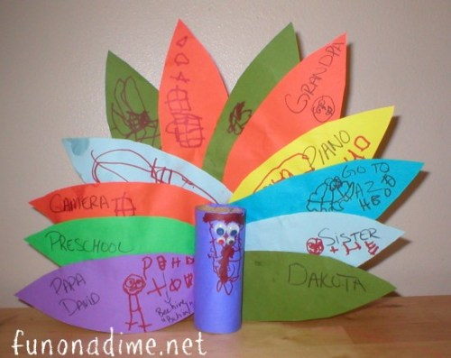 Thanksgiving Day Turkey Paper Craft