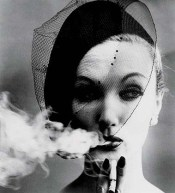 "Lisa Fonssagrives in ""Smoke and Veil"" Paris, 1958 for Vogue by photographer William Klein"