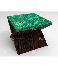 Malachite End Table - Lusso - Furnishingcart