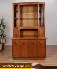 Mid century modern rosewood and walnut china cabinet by ...