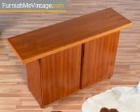 Modern teak console server by Sun Cabinet