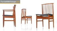 Mid Century Modern teak dining chairs by DUX