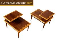 Pair of Mid Century Modern Lane Acclaim Step Tables