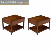 Mid-Century Modern Broyhill Brasilia Chairside End Tables ...