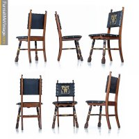 Medieval Gothic Revival Mahogany Dining Chairs - Game of ...